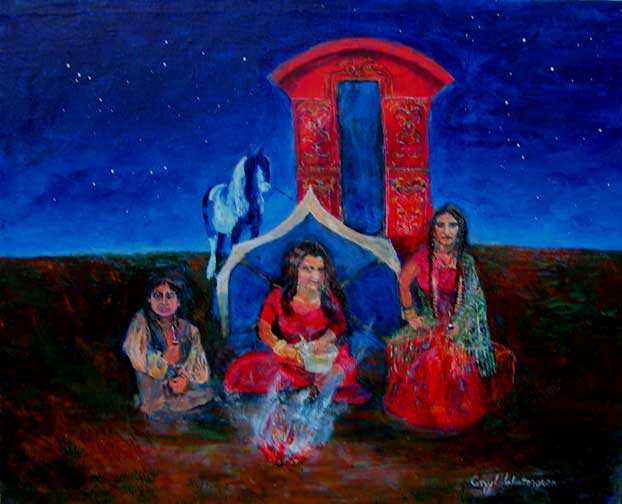 gypsy camp painting